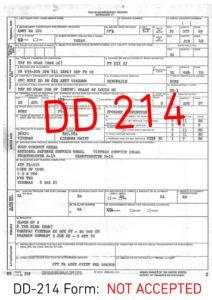 Unacceptable DD 214 Form